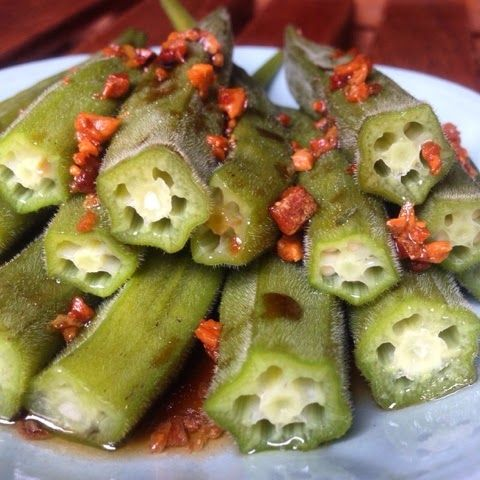 The Flavoursome Journey : Steam Okra / Lady Fingers. Simple and easy recipe! Light and not oily!