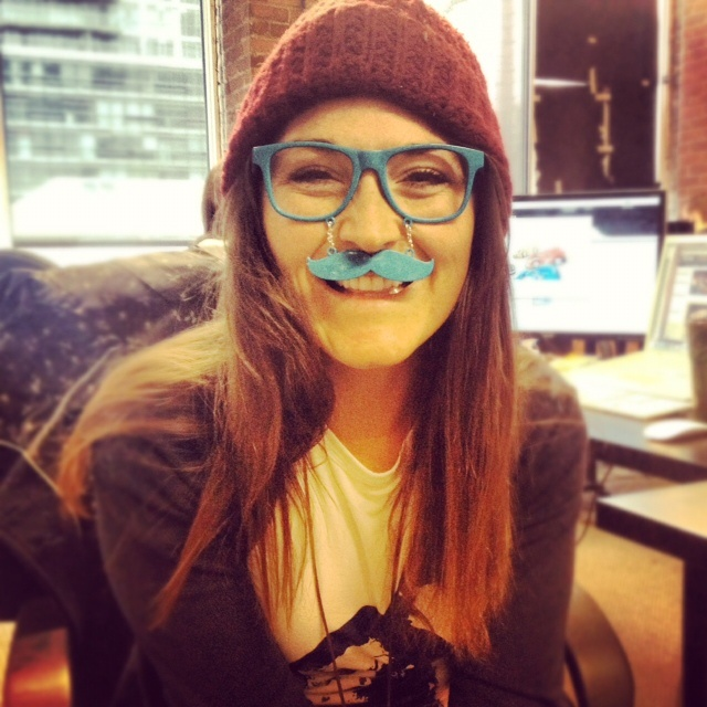 Supporting #Movember with a pair of stache glasses!