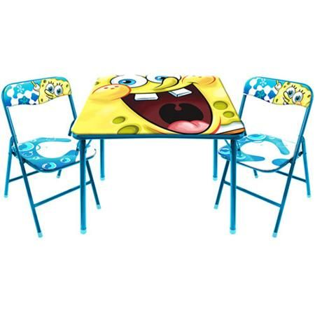 nickelodeon spongebob activity table and chair set - Spongebob Bedroom Set