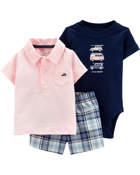 5fac43d32 3-Piece Little Short Set | Products | Body suit with shorts, Carters ...