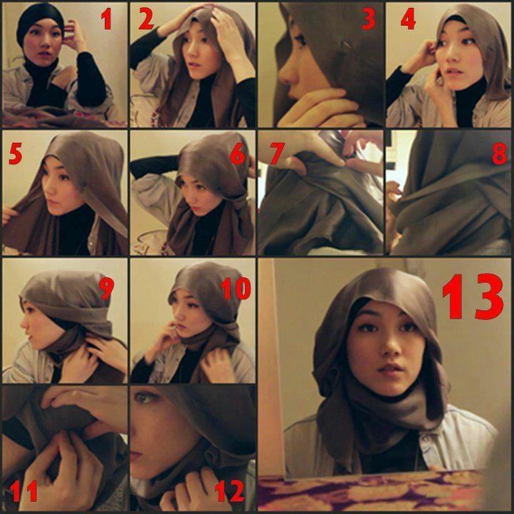Hijab tutorial - Hana Tajima Style