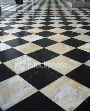 62 best checkerboard floors images on pinterest for Checkered linoleum flooring