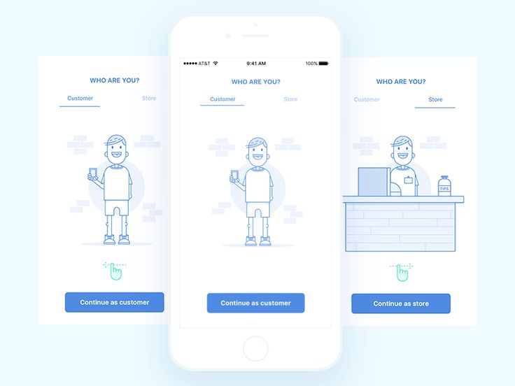 Animated onboarding for ecommerce application by Sasha Gorosh