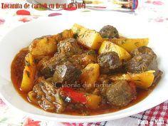 » Tocanita de cartofi cu ficat de vitelCulorile din Farfurie