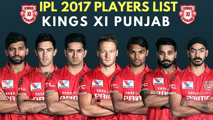 Vivo IPL 10: Kings XI Punjab (KXIP) Team Full Players List Squad