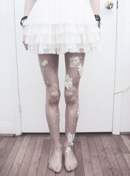 More embellished tights