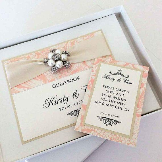 Luxury Personalised Wedding Guest Book by WeddingParaphernalia