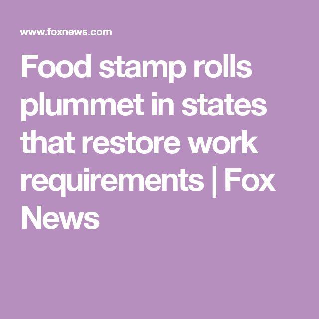 Food stamp rolls plummet in states that restore work requirements | Fox News