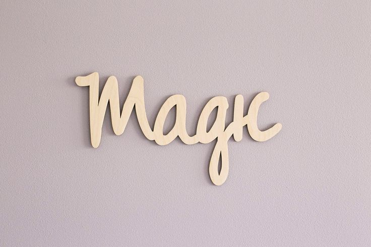 Wooden Letters Unfinished Wooden Letters Magic Wooden Letters For Wall Wooden Signs With Quotes Script Sign Script Letters