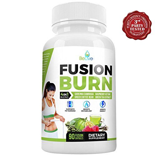 Fusion Burn Garcinia Cambogia Thermogenic Weight Loss Pills for All Body Types - Green Tea Extract, Green Coffee Bean, Raspberry Ketones - Fat Burner Pills for Women and Men - 90 Caps...  #1 Dr Oz dr. oz CHOICE FOR BURNING BELLY FAT, BOOSTING METABOLISM AND ENERGY LEVELS, AND BLOCKING FAT STORAGE!>SCIENTIFICALLY PROVEN RESULTS: Green tea extract: Also known as EGCG (epigallocatechin gallate), this powerful antioxidant can inhibit enzymes in the human body to slow the breakd