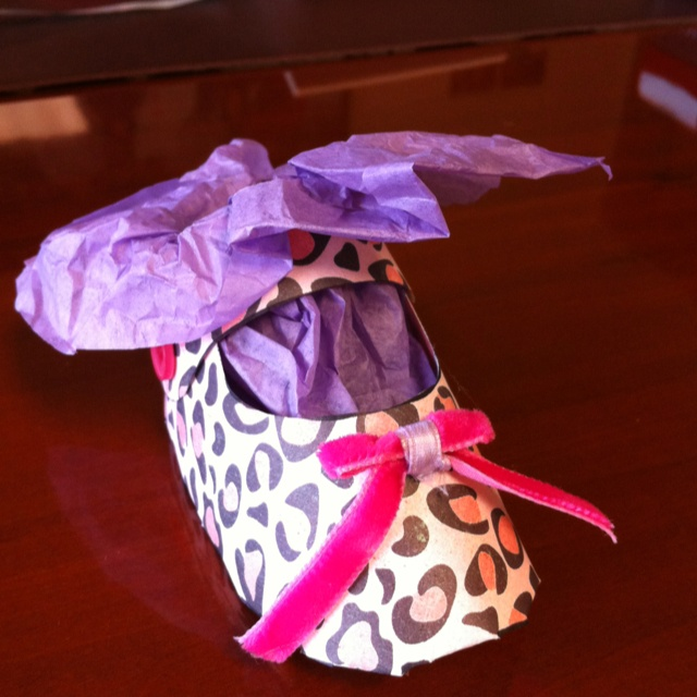 My baby shower goodies I made to give to our guests filled with chocolate mints.