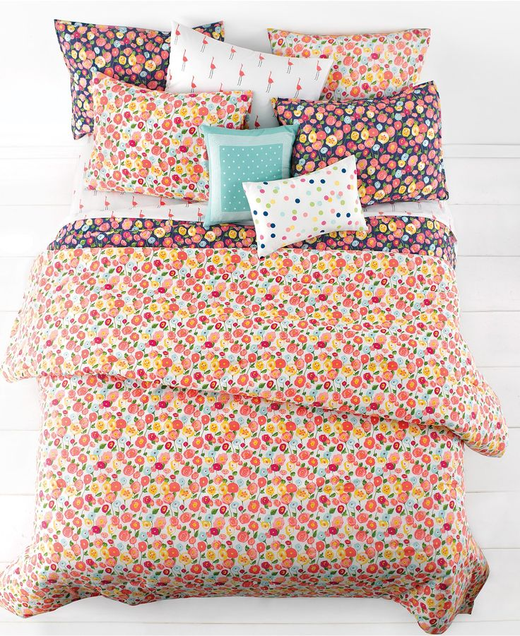 Martha Stewart Whim Collection Pretty in Poppy Bedding