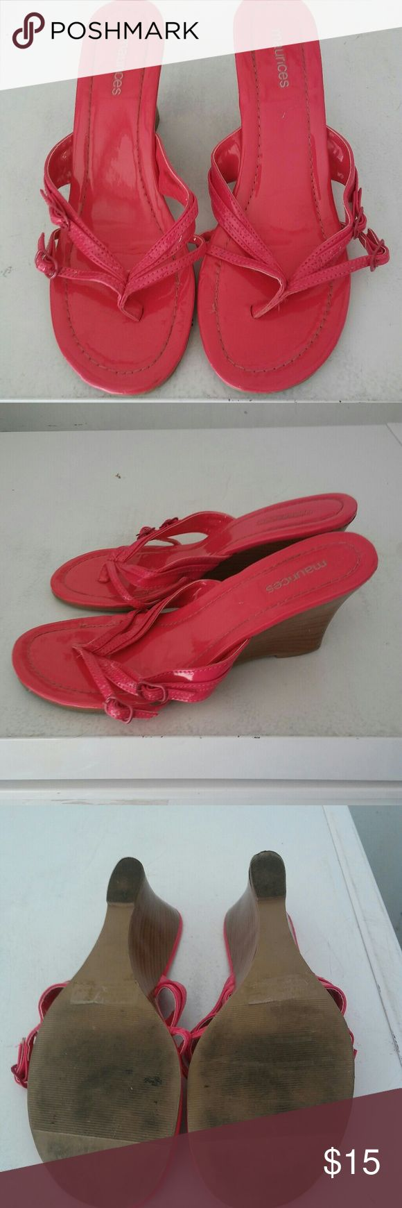 Maurice's Shoes Size 8 Hot pink Maurice's size 8 Slide on. These are in overall pretty good condition Will ship out within 24-48Hrs Let me know if you have any questions Thank you for looking:-D Maurices Shoes Wedges