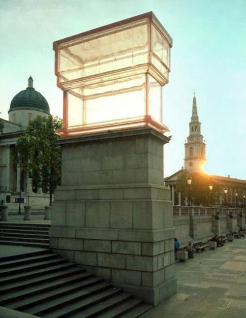 Rachel Whiteread, Monument on the fourth plinth in Trafalgar Square, 2001