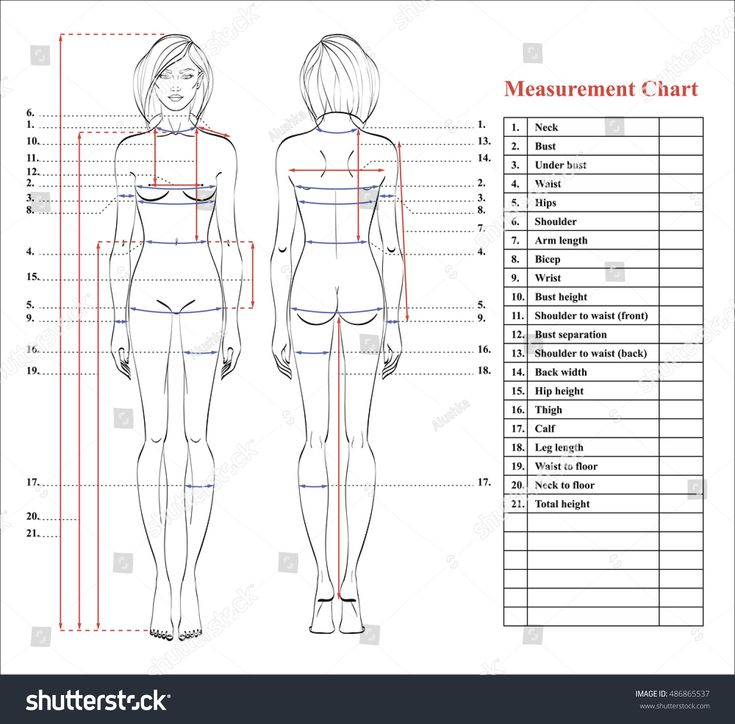Best  Body Measurement Chart Ideas On   Weight