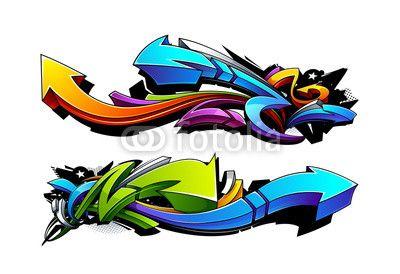 Wektor: Graffiti arrows designs