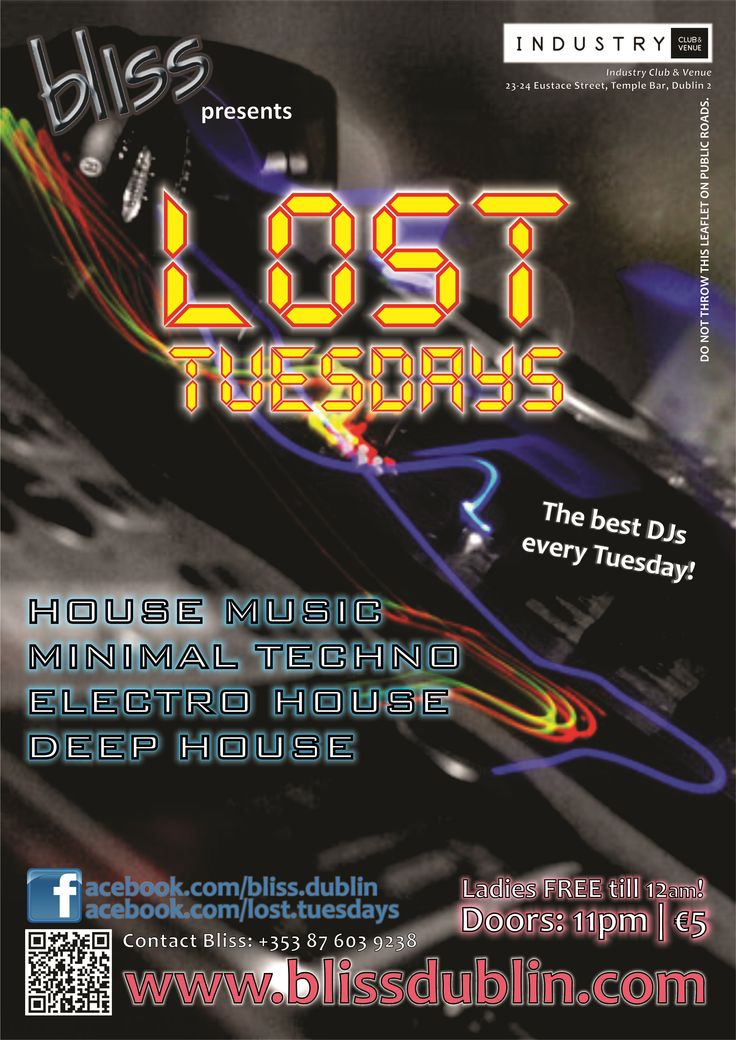 2012.10 Lost Tuesdays Poster