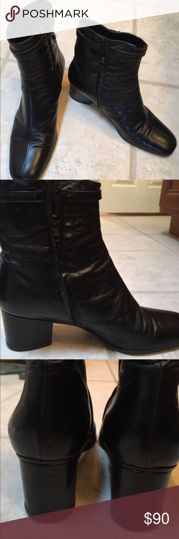 Maude Frizon Leather Bootie  - Black Good Condition - Used - beautiful boots - Black Shoes Ankle Boots & Booties
