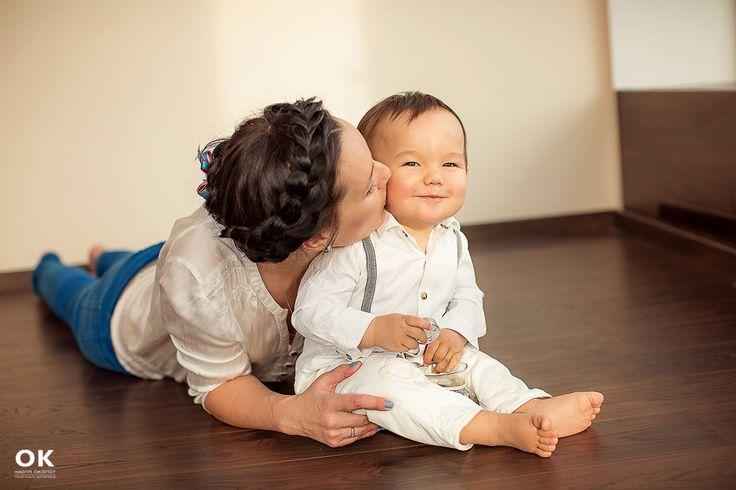 Семейная фотосессия на годик малыша