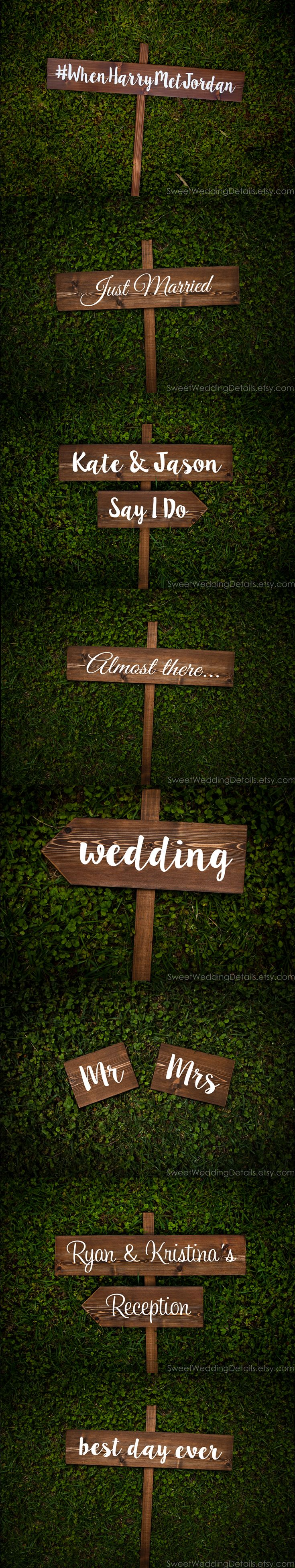 Rustic Wedding Signs and Decor for your special day that are sUre to charm (and sweetly direct) your guests throughout your day! And who couldn't use a cute hashtag wedding sign?!