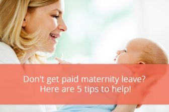 5 Budgeting Tips for Moms Who Don't Get Paid Maternity Leave Maternity leave ideas #maternity #pregnancy #baby