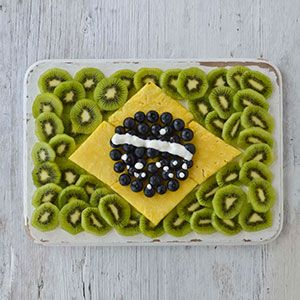 World Cup flag food platters.  Very fun!