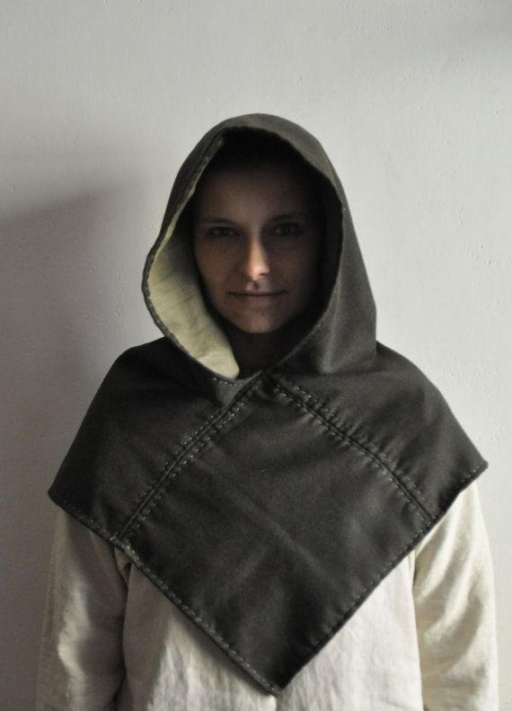 Woolen hood inspired by Skjolderhamn finds, Norway, migration & viking period