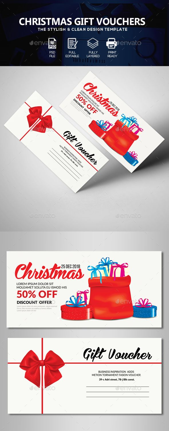 883 best special gift voucher templates images on pinterest marry christmas gift voucher cards invites print templates yelopaper Image collections