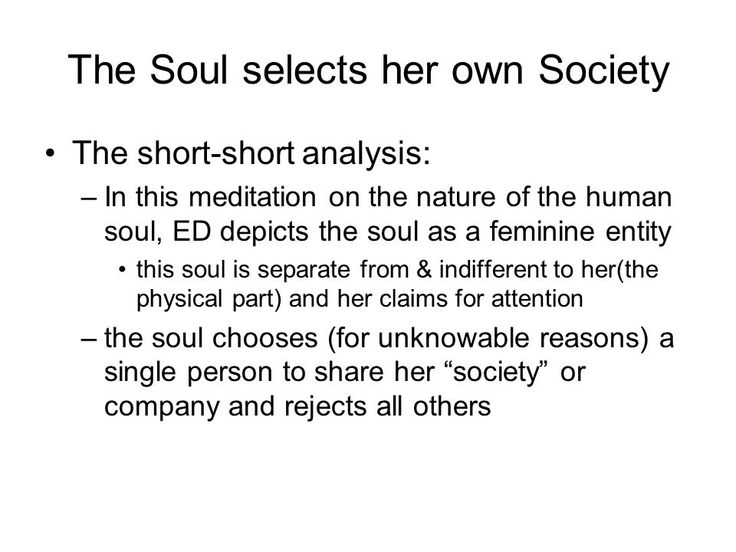 dickinson the soul selects her own society