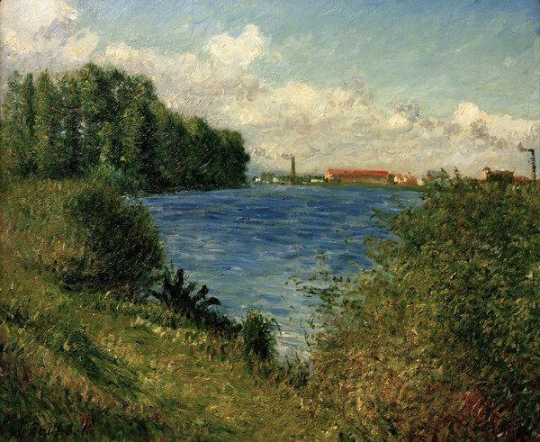 Gustave Caillebotte-Seine bei Argenteuil