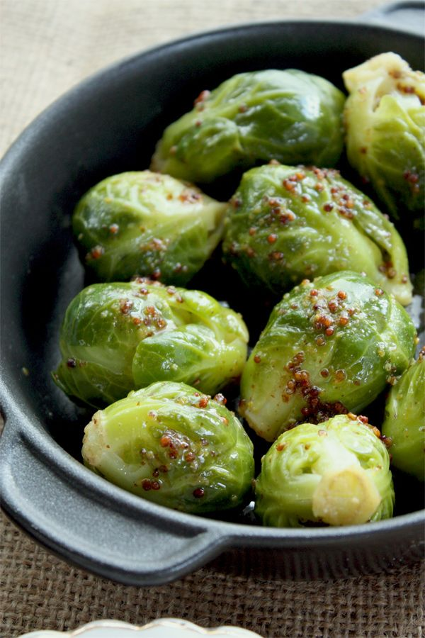 SEXY BRUSSELS SPROUTS IN MUSTARD BUTTER (Yep, that's the name of the recipe)