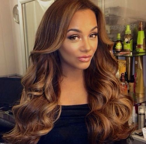 golden brown hair color for black brown hair