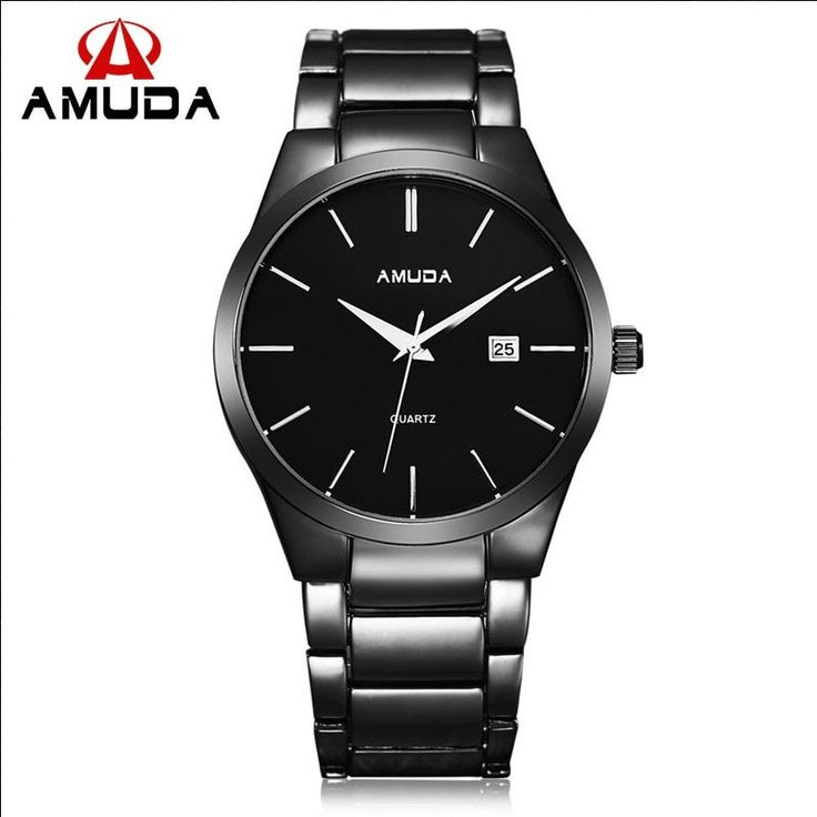 It's All about Style TOTAL #BLACK #AMUDA Men's #StainlessSteel Quartz Analog ⌚️#Wristwatch will fit your wrist #perfectly in any occasion :)