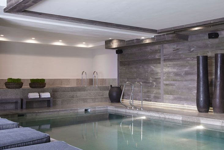 contemporary indoor swimming pool (fabulous pots) Fiona Barratt Interiors