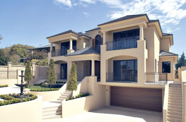 The bayview is a contemporary representation of australian for Custom home layouts