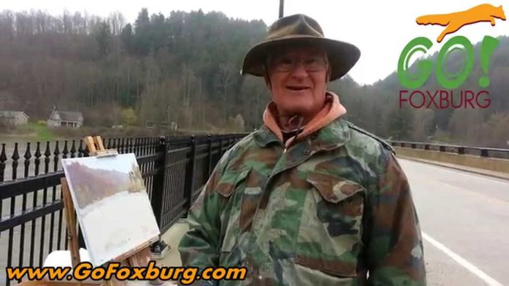 Artist paints the Allegheny in Foxburg