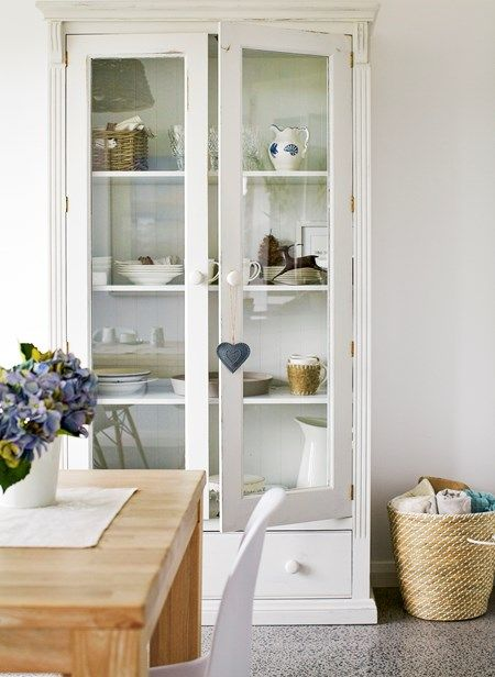 A beautiful cabinet is the perfect finishing touch for a Hamptons kitchen