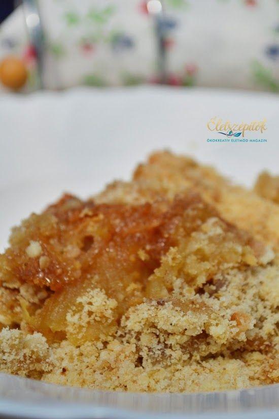 Almás-zabpelyhes morzsasüti | Életszépítők