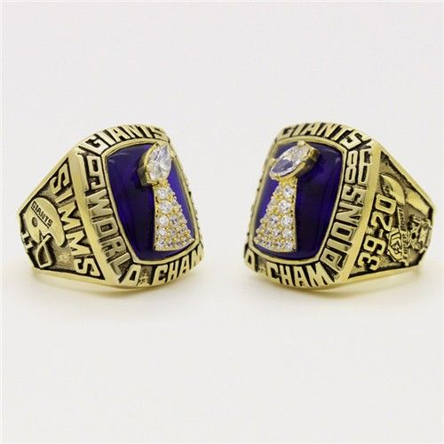 Custom 1986 Super Bowl XXI New York giants Championship Ring