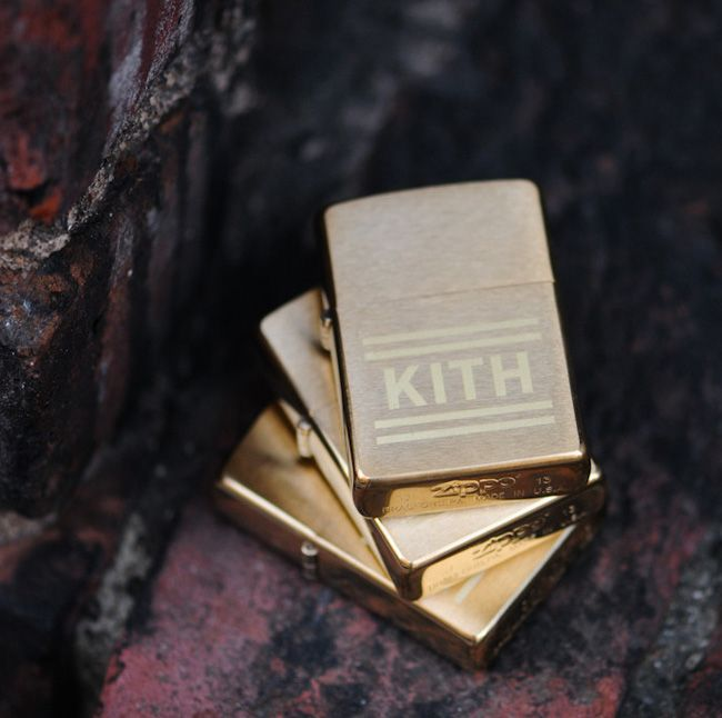 """Gold"" Zippo Lighter x Kith"