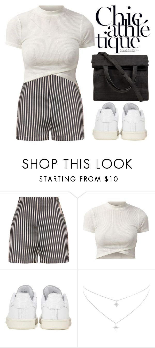 """""""Chic athletique"""" by theapapa ❤ liked on Polyvore featuring La Perla, adidas Originals and Alexander Wang"""