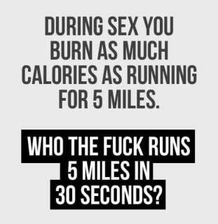 Quotes on running and sex