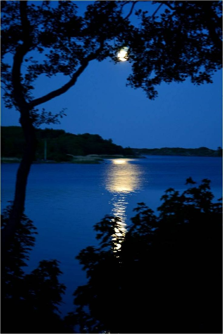 Moonglade over the sea as seen from our window. June 15, 2014 in Brändö. Photo by Päivi Kalske.