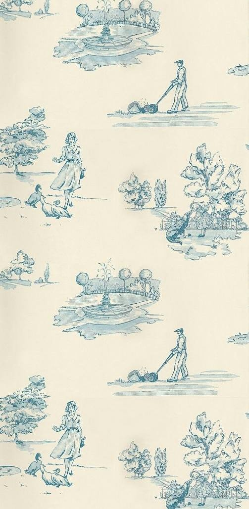 17 best images about papel pintado toile de jouy on - Papel pintado toile de jouy ...