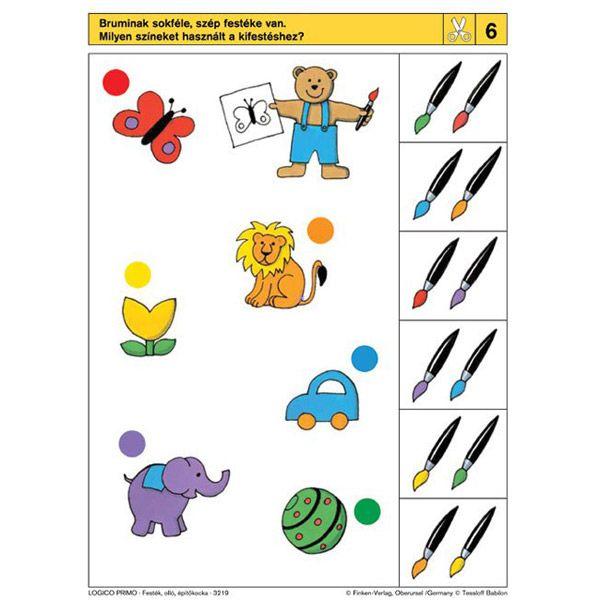 Logico Primo feladatkártyák - Festék, olló, építőkocka - . kép