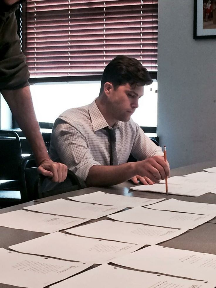 New Weekend Update co-anchor Colin Jost working on jokes before today's run-thru. | Saturday Night Live | #SNL
