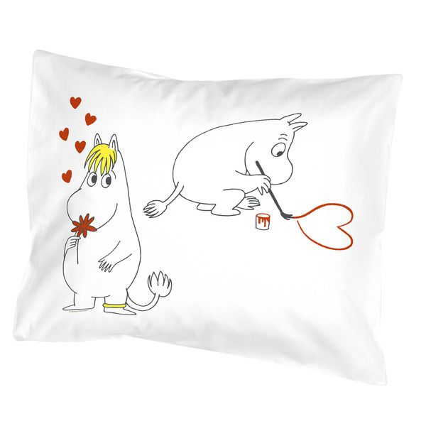 Heart Moomin pillow cover- It's so cute! too bad they don't ship to the US