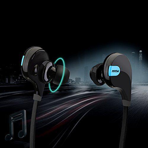 Mpow Swift Oreillette Bluetooth Stéréo sans fil, Casque Bluetooth de Sport, écuteurs de Course, oreillette d'exercice avec Microphone,…