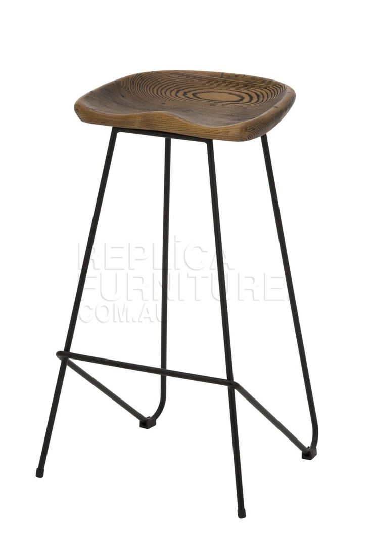 Wire Tractor Stool -e   At 69cm seat height, the Wire Tractor Stool is the right height for kitchen benches or island benches around the standard 90cm height.  The wire tractor stools come fully assembled and include rubber gliders and stoppers. --199.0000