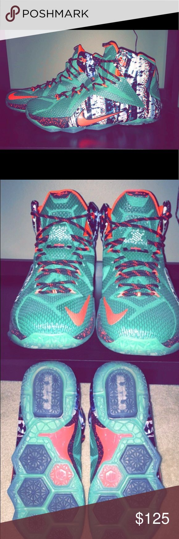 Nike Lebron twelve Xmas edition Size: 11 barely worn Nike Shoes Sneakers